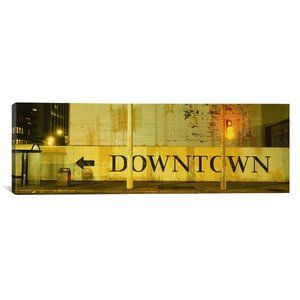 DOWNTOWN San Francisco Canvas Gallery Wrapped Art